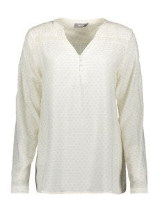 Geisha Blouse TOP SMOCK AND GOLD DOTS 03196 OFF-WHITE/GOLD