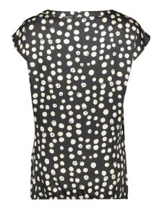 top s s aop dots 03226 geisha t-shirt black/sand combi