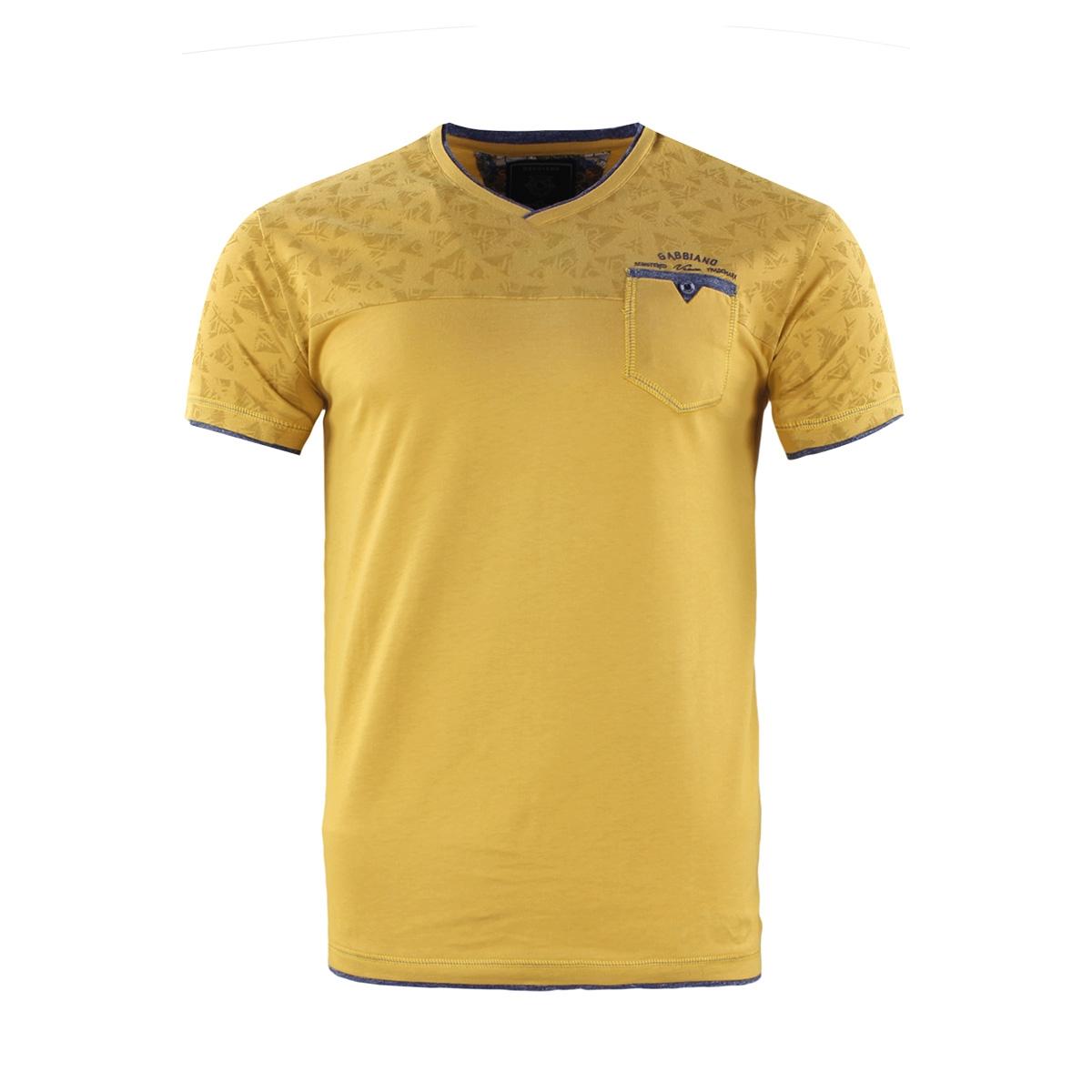 t shirt 15177 gabbiano t-shirt yellow