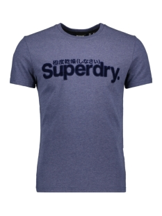 Superdry T-shirt FAUX SUEDE TEE M1010103A PRINCEDOM BLUE MARL
