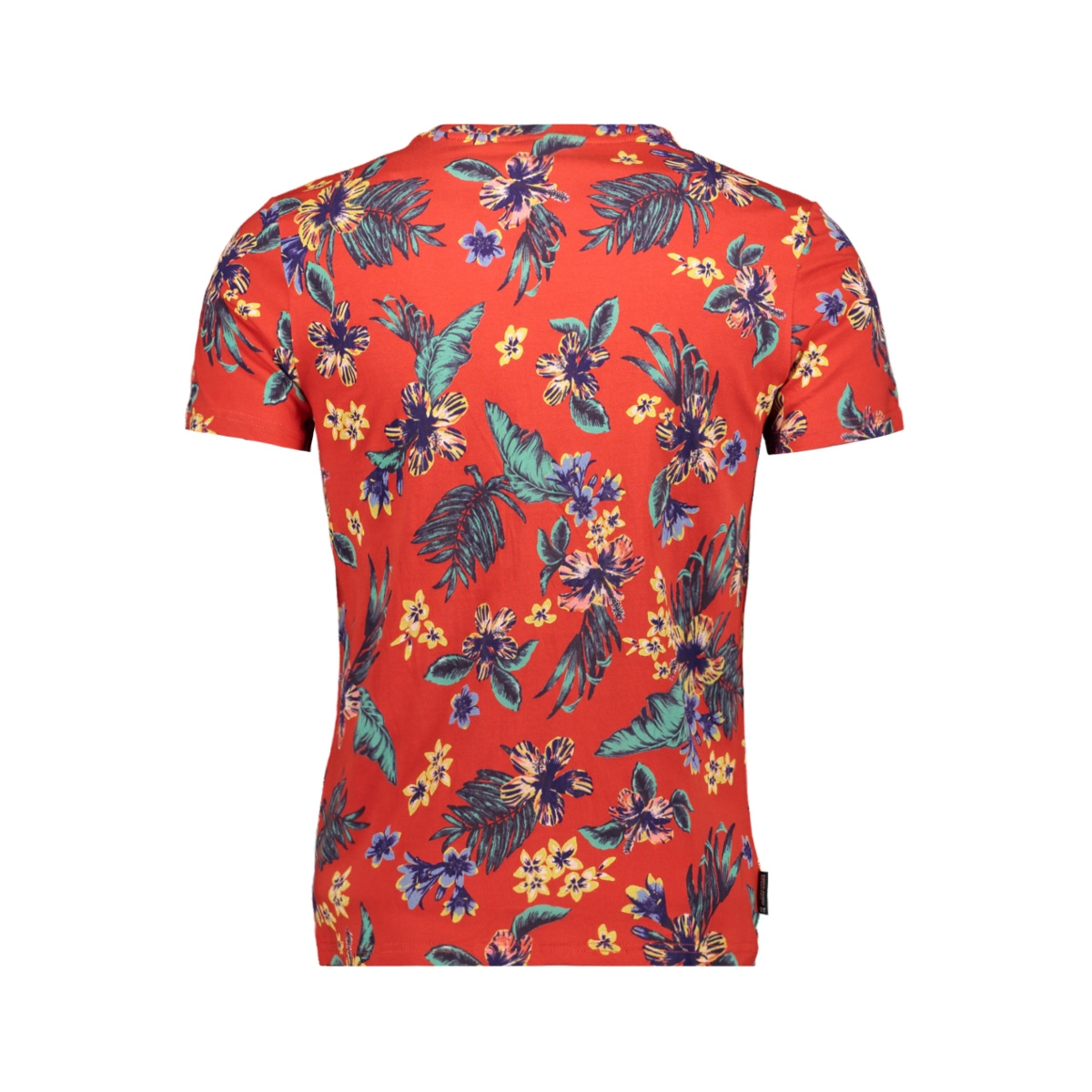 super 5 s teem1010106b superdry t-shirt vintage tripical red