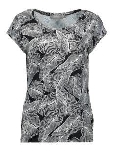 Geisha T-shirt TSHIRT KATE AOP S/S 0202960 PR11BL/WH LEAVES