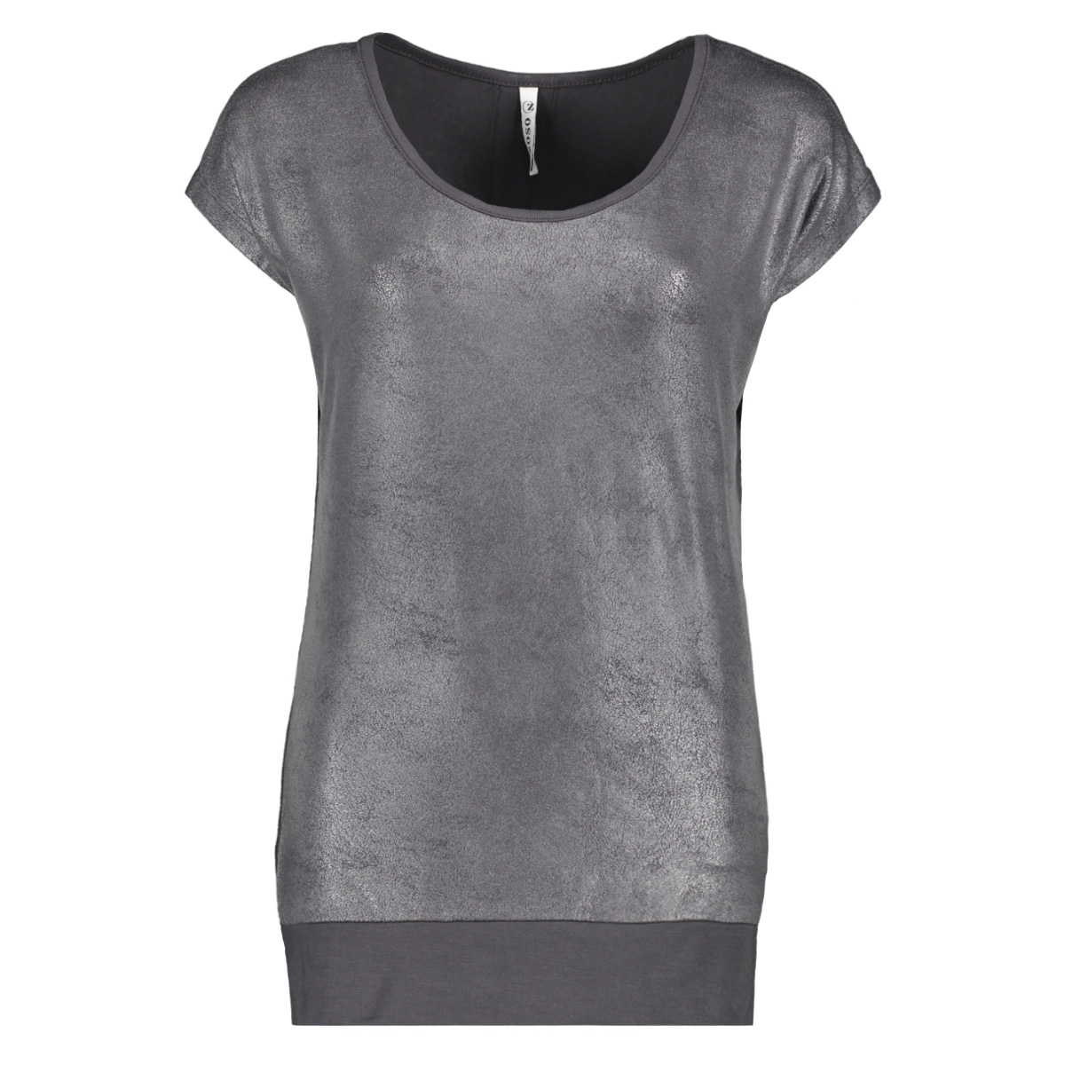 sandy leather look t shirt 201 zoso t-shirt charcoal