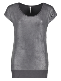 Zoso T-shirt SANDY LEATHER LOOK T SHIRT 201 CHARCOAL
