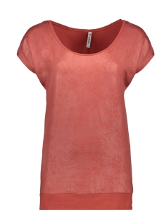 Zoso T-shirt SANDY LEATHER LOOK T SHIRT 201 DESERT RED