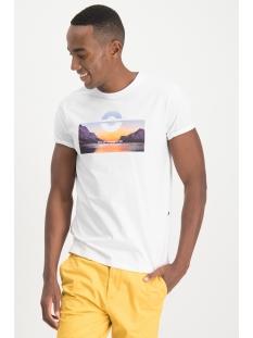 Haze & Finn T-shirt TEE ARCTIC LEAGUE MU13 0003 WHITE/LIGHT BLUE