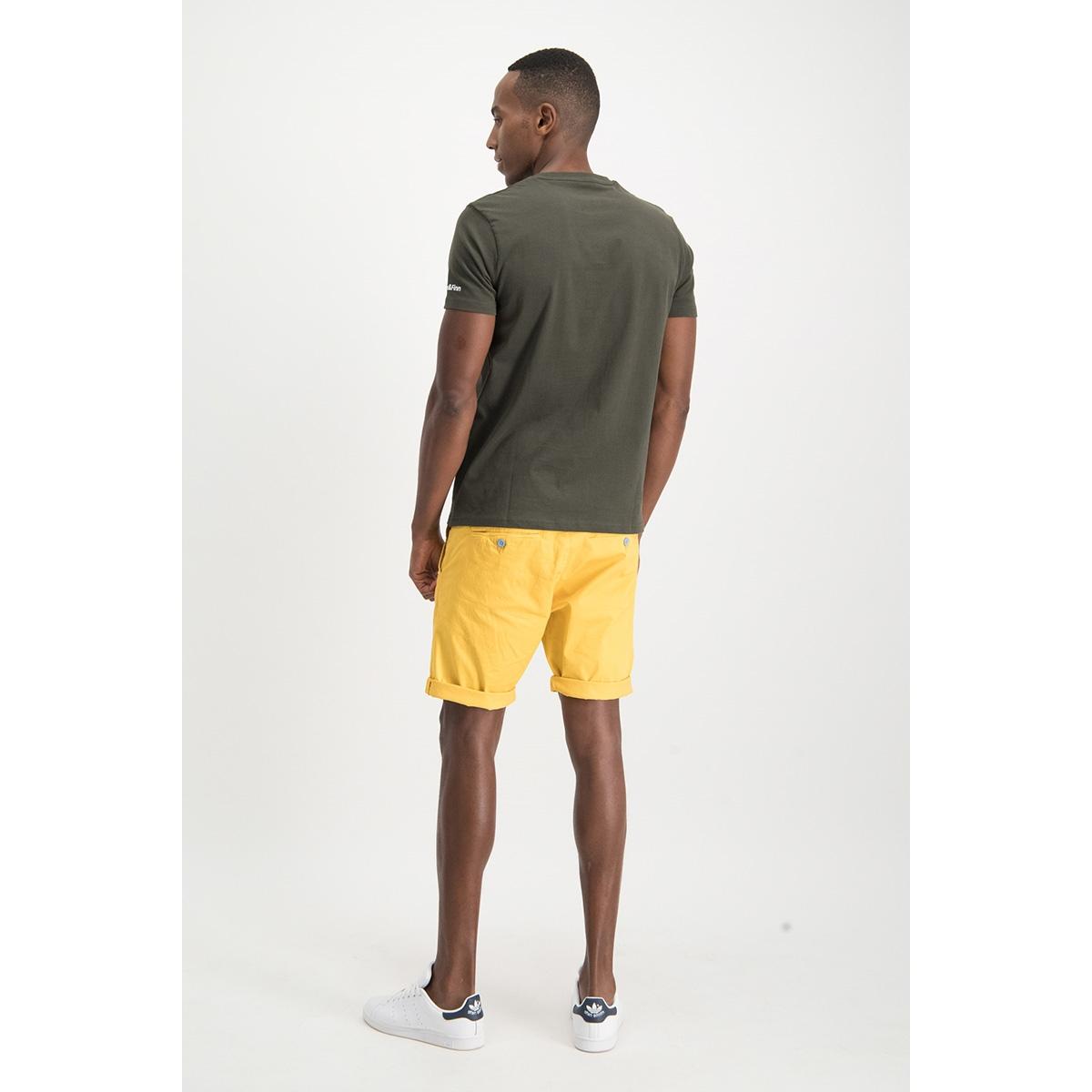 tee small globe mu13 0014 haze & finn t-shirt army green-mellow yellow
