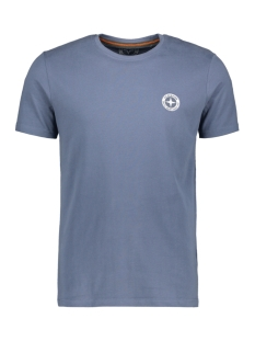 tee logo embro mu13 0010 haze & finn t-shirt light indigo