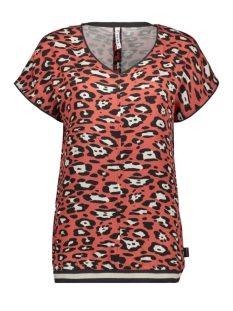 Zoso T-shirt RUNNER WOVEN PRINTED SHIRT 201 0072 DESERT RED