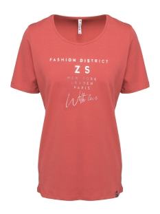 district t shirt with print 201 zoso t-shirt 0072 desert red