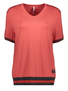 Zoso T-shirt AMIRA VISCOSE SHIRT 201 0072 DESERT RED
