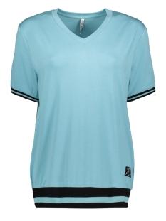 Zoso T-shirt AMIRA VISCOSE SHIRT 201 0069 STONE BLUE