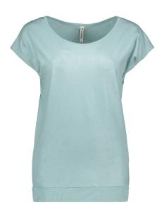 Zoso T-shirt SANDY LEATHER LOOK T SHIRT 201 STONE BLUE