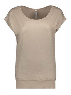 Zoso T-shirt SANDY LEATHER LOOK T SHIRT 201 SAND