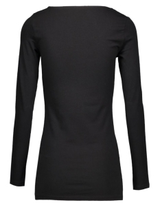 maxi my ls long u-neck 10059320 vero moda t-shirt black