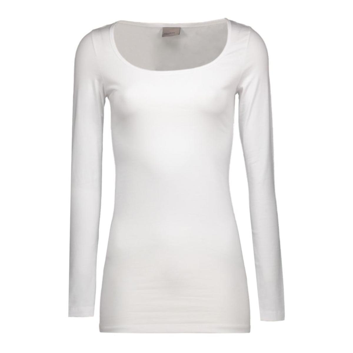 maxi my ls long u-neck 10059320 vero moda t-shirt opt white