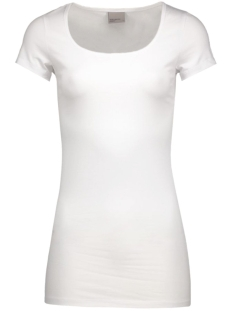maxi my ss long u-neck 10059321 vero moda t-shirt opt white
