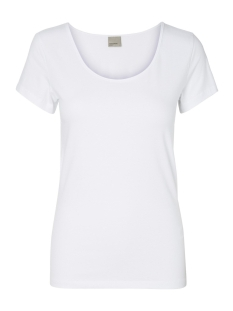 Vero Moda T-shirt VMMAXI MY SS SOFT U-NECK NOOS 10148254 Bright White
