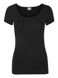 vmmaxi ss soft u-neck 10148254 vero moda t-shirt black