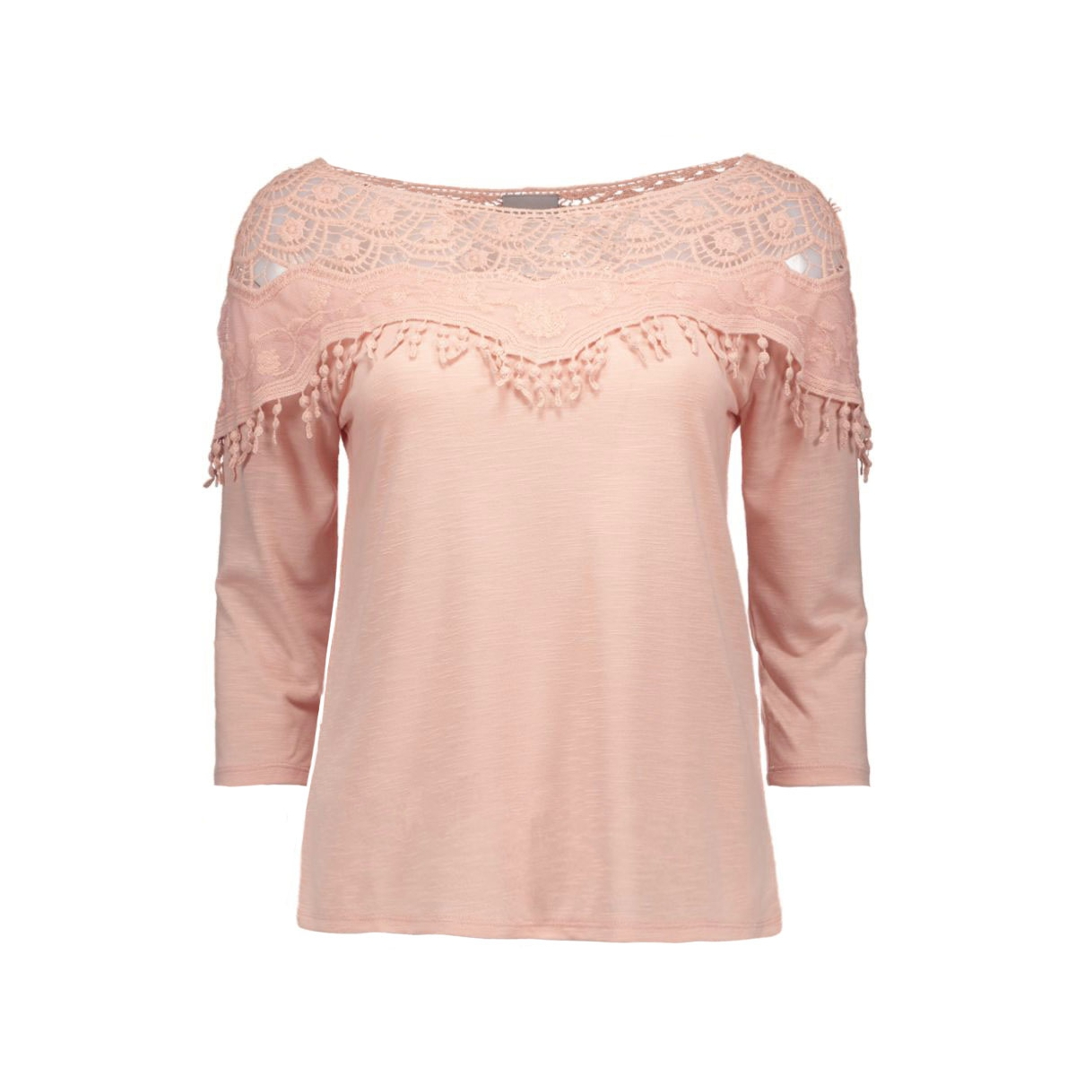 vmsusy 3/4 crochet top 10154911 vero moda t-shirt rose dust