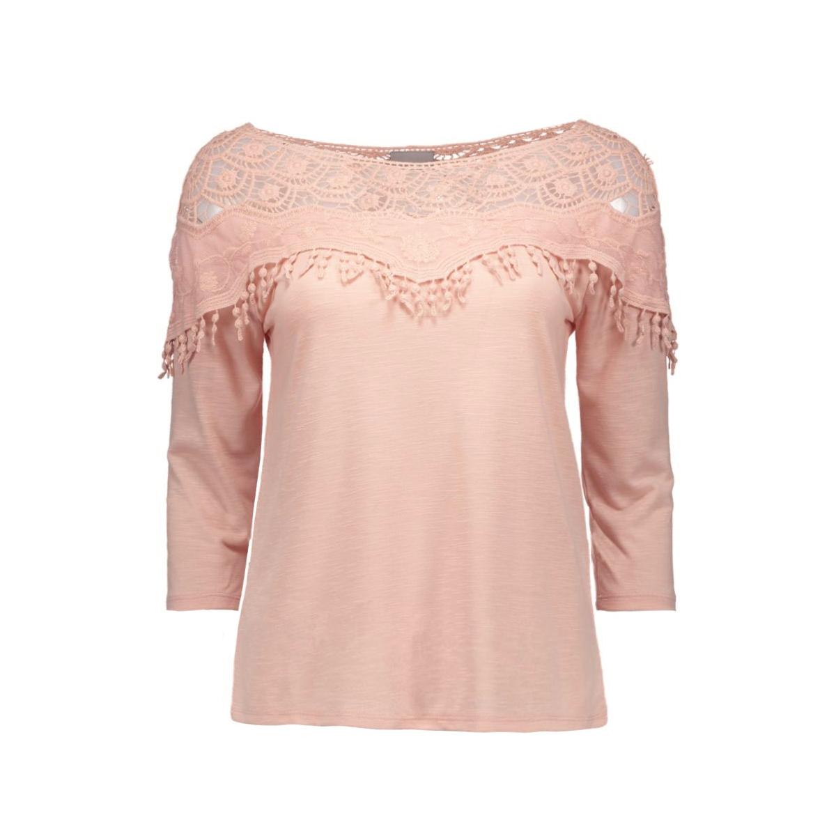 vmsusy 3/4 crochet top 10154911 vero moda t-shirt rose dust
