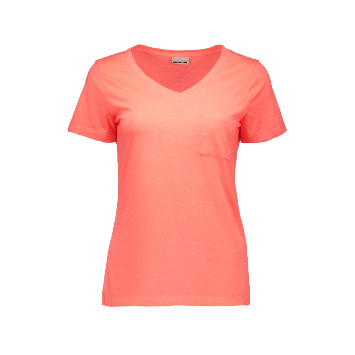 nmgila s/s top 10155359 noisy may t-shirt fiery coral
