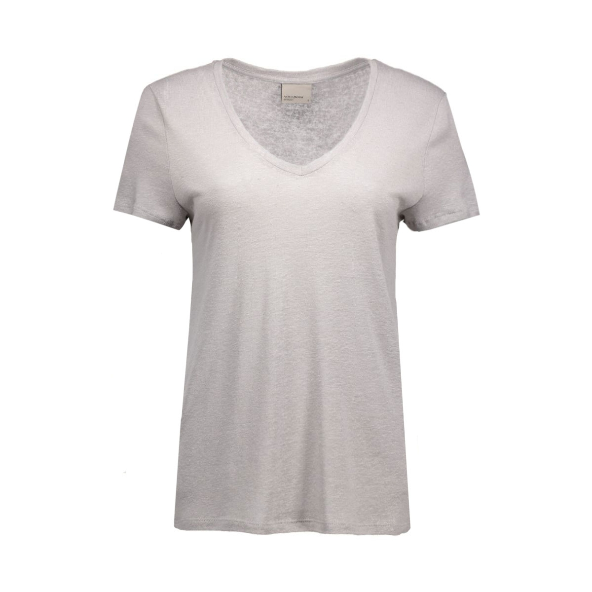 vmpure linen top 10157359 vero moda t-shirt medium grey melange