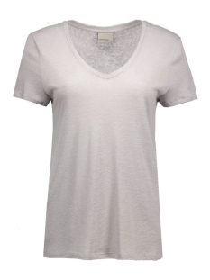 vmPure Linen Top 10157359 Medium grey melange