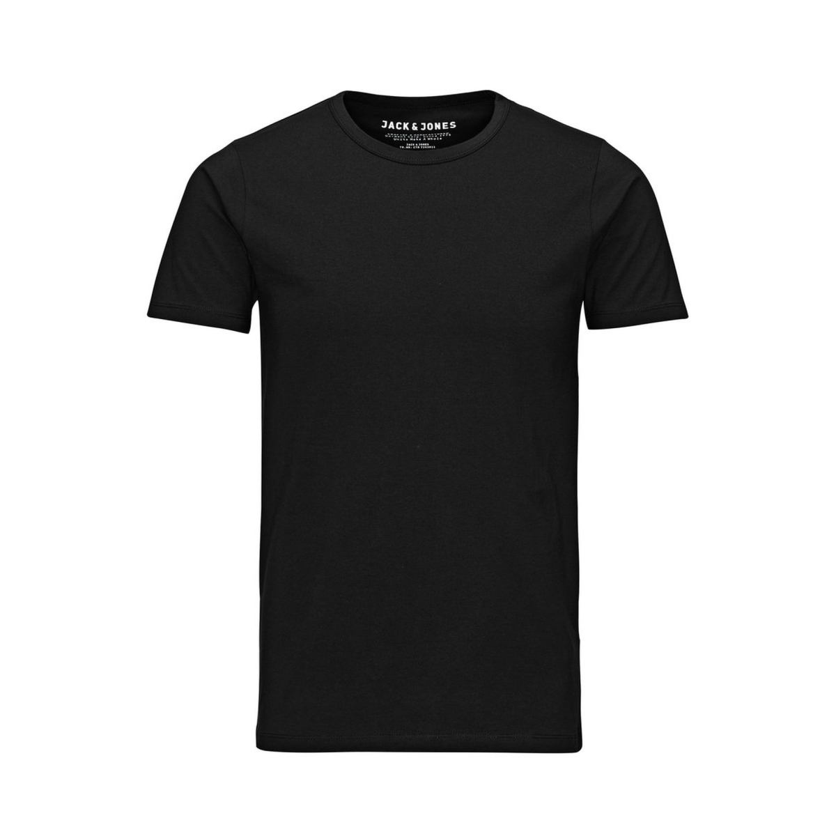 basic o-neck tee s/s 12058529 jack & jones t-shirt black