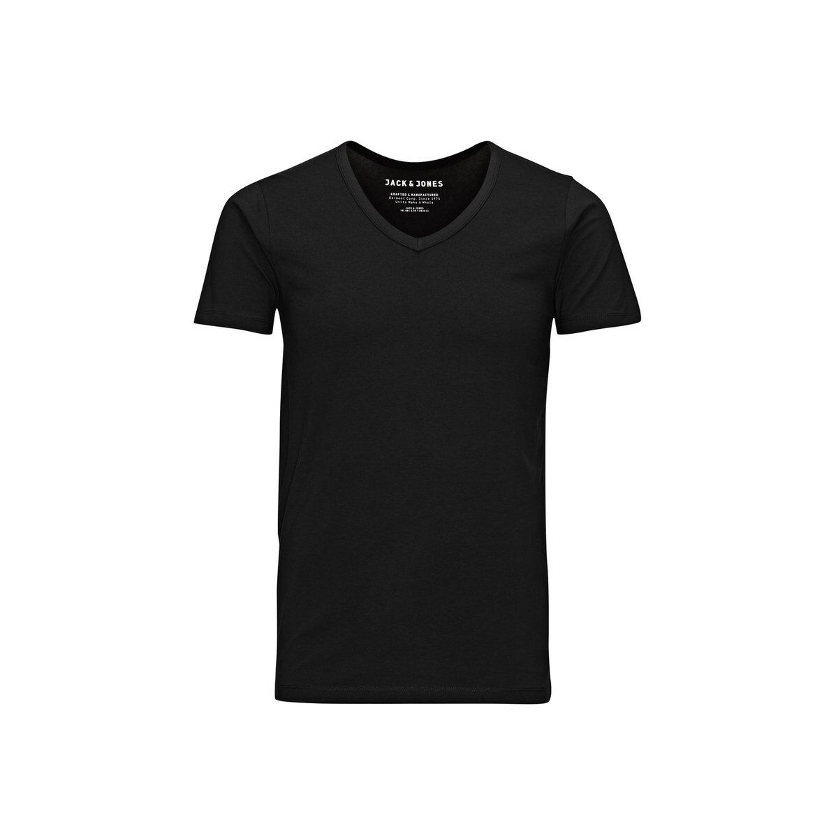 basic v-neck tee 12059219 jack & jones t-shirt black