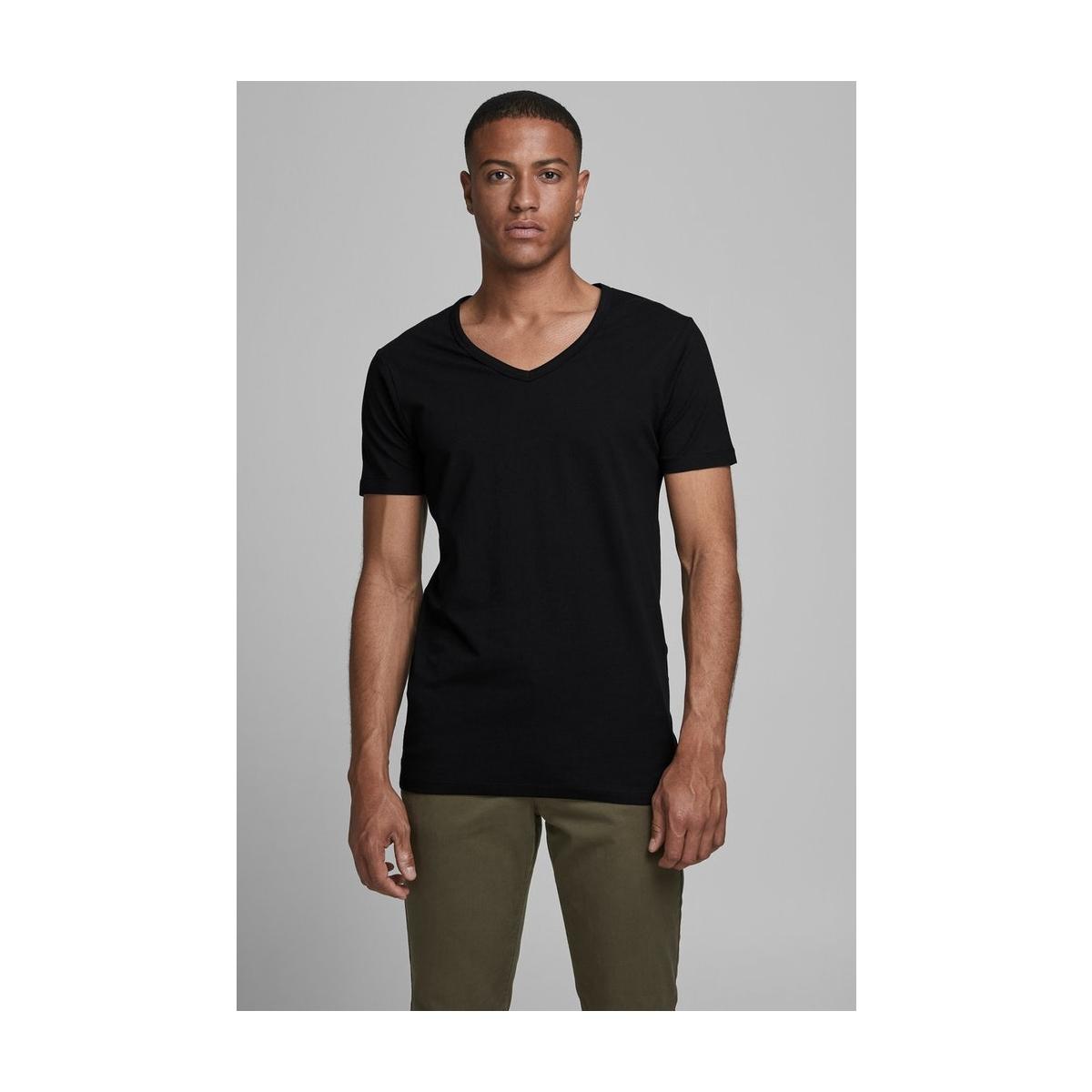 basic v-neck tee s/s noos 12059219 jack & jones t-shirt black
