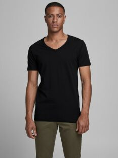basic v-neck tee s/s 12059219 jack & jones t-shirt black