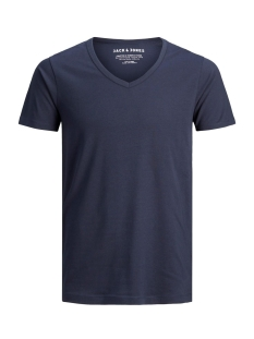 basic v-neck tee 12059219 jack & jones t-shirt navy