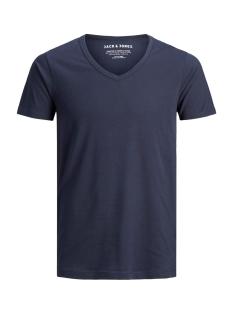 Jack & Jones T-shirt Basic V-Neck Tee 12059219 navy