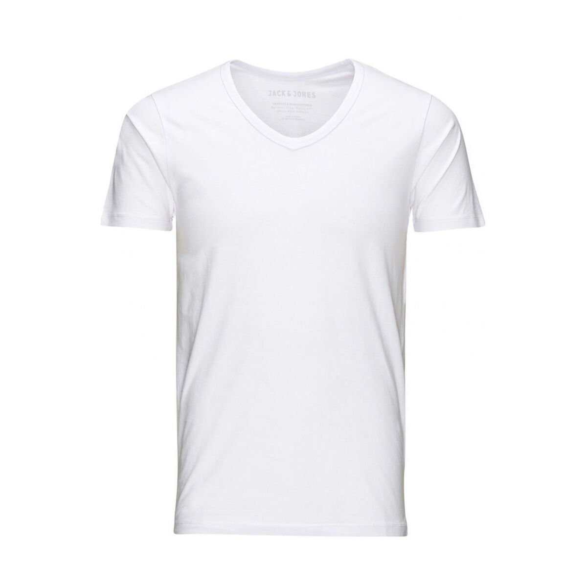 basic v-neck tee 12059219 jack & jones t-shirt white