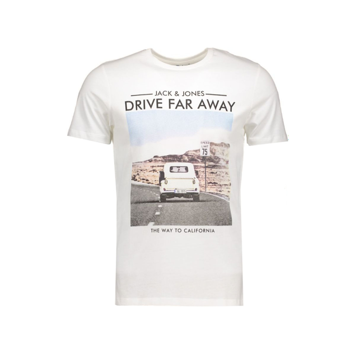 jorroad trip tee 12107643 jack & jones t-shirt cloud dancer