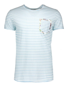 jorpoc tee crew neck 12110052 jack & jones t-shirt sky blue