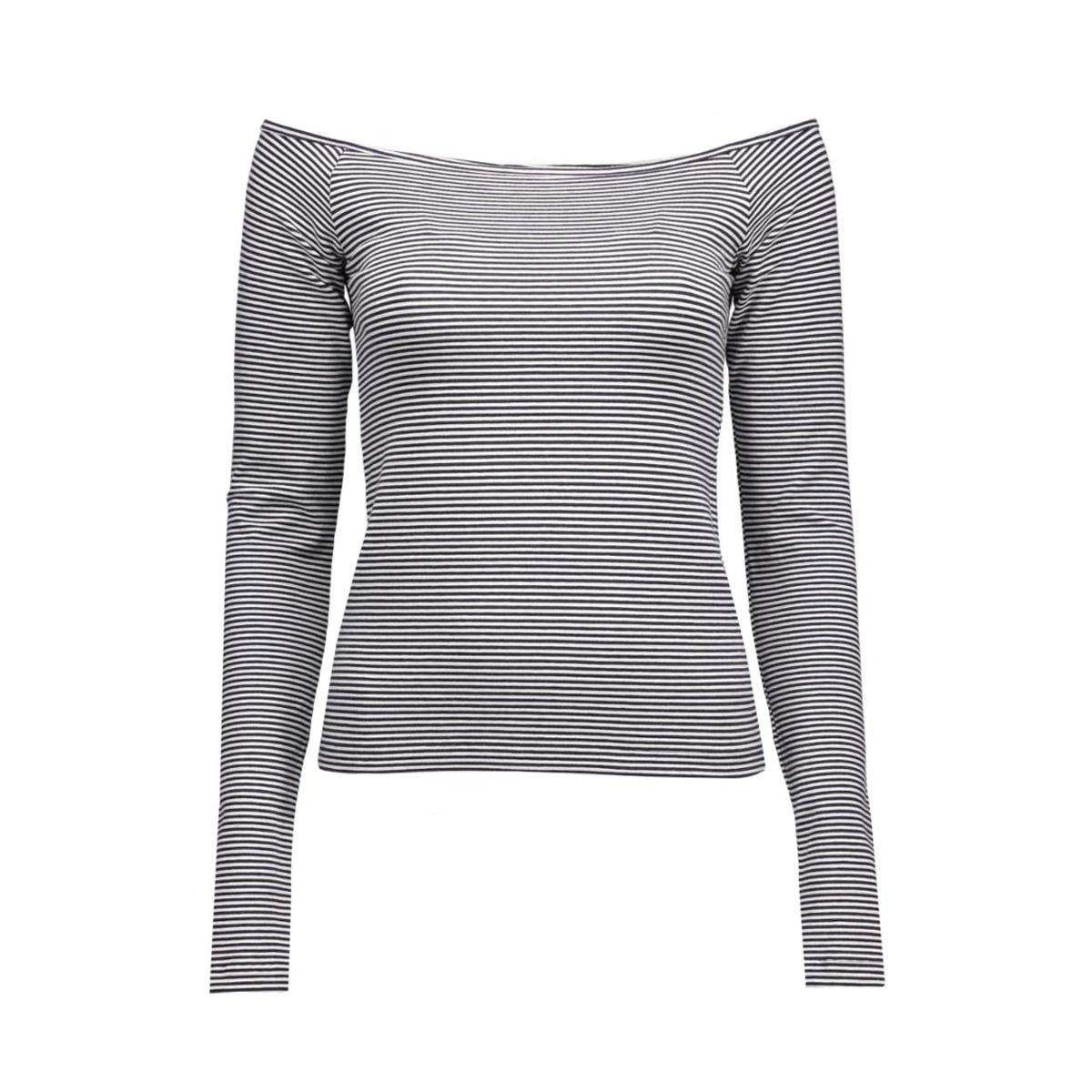 pctilly off shoulder top 17073502 pieces t-shirt navy blazer