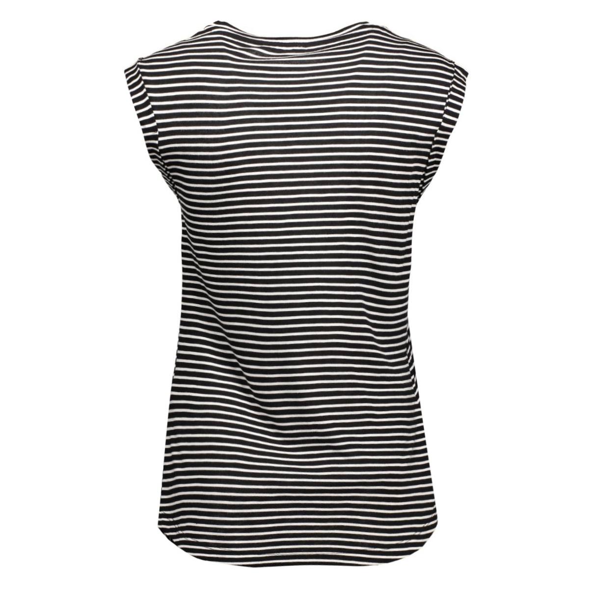 pctilla knot tee 17073940 pieces t-shirt black