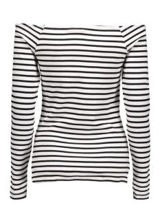 viwake off shoulder top 14036200 vila t-shirt black/snow white
