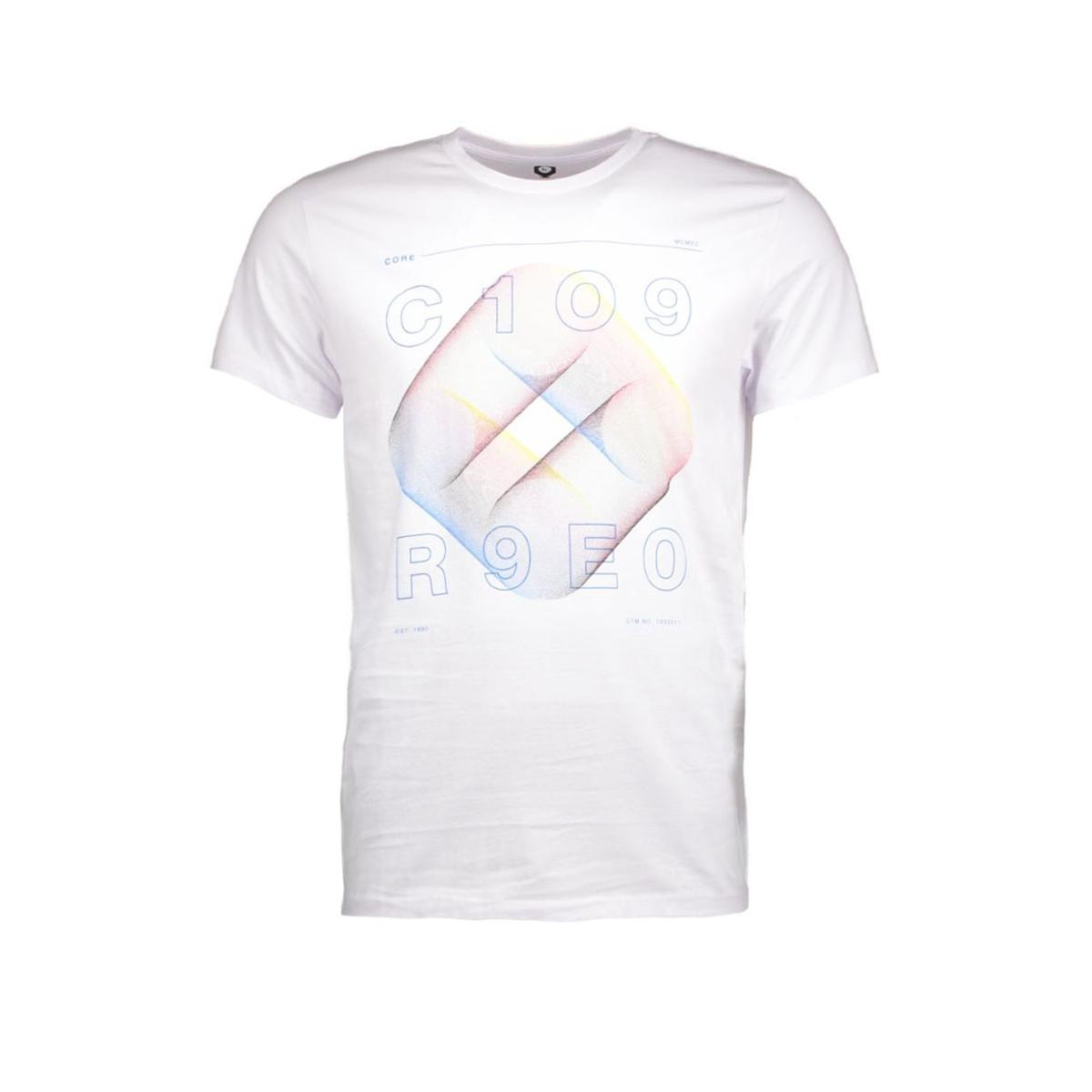 jcofloat-belkin tee ss o-neck camp 12108922 jack & jones t-shirt white/tall&slim