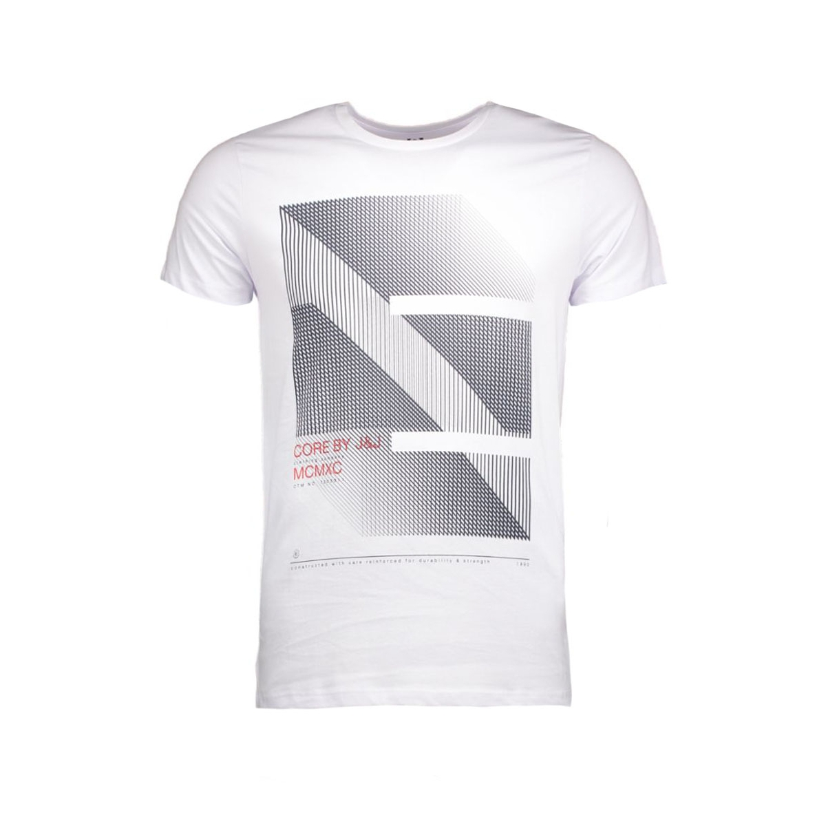 jcofloat-belkin tee ss o-neck camp 12108922 jack & jones t-shirt white/tall&slim grafische print