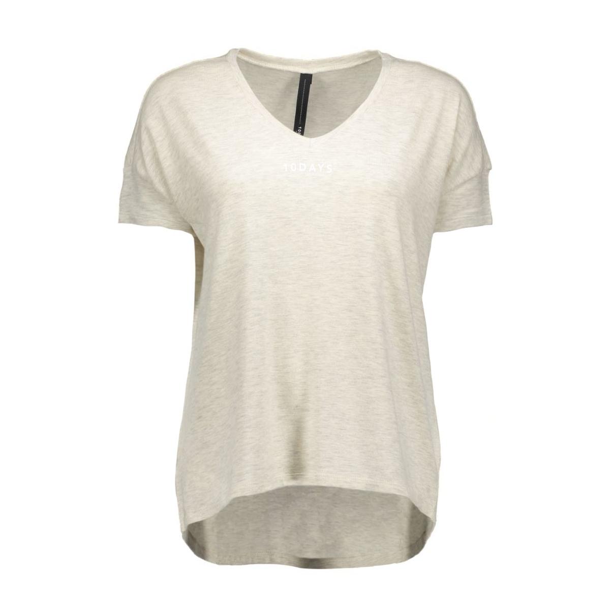 16wi-744 10 days t-shirt 17-0117 soft white melee