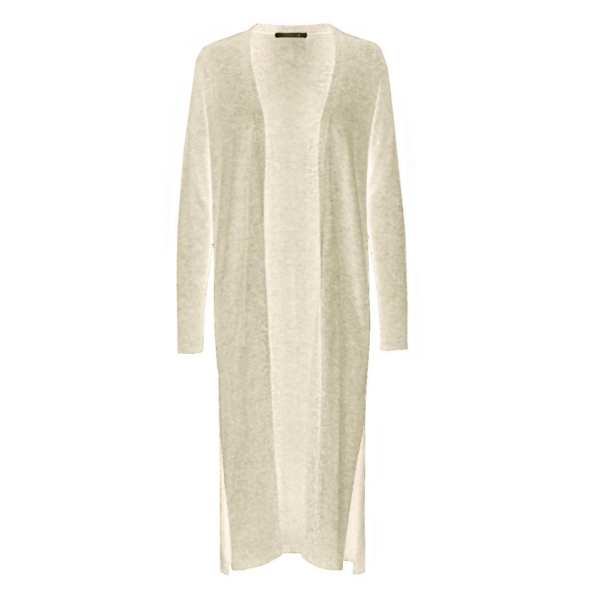 onlfrancis l/s long slit cardigan k 15119396 only vest frosted almon/w. melange