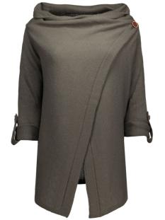 objdeanna l/s knit cardigan noos 23021359 object vest noos- beluga