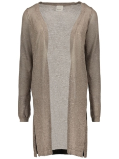 vmaltha ls long slit cardigan 10160503 vero moda vest falcon/melange