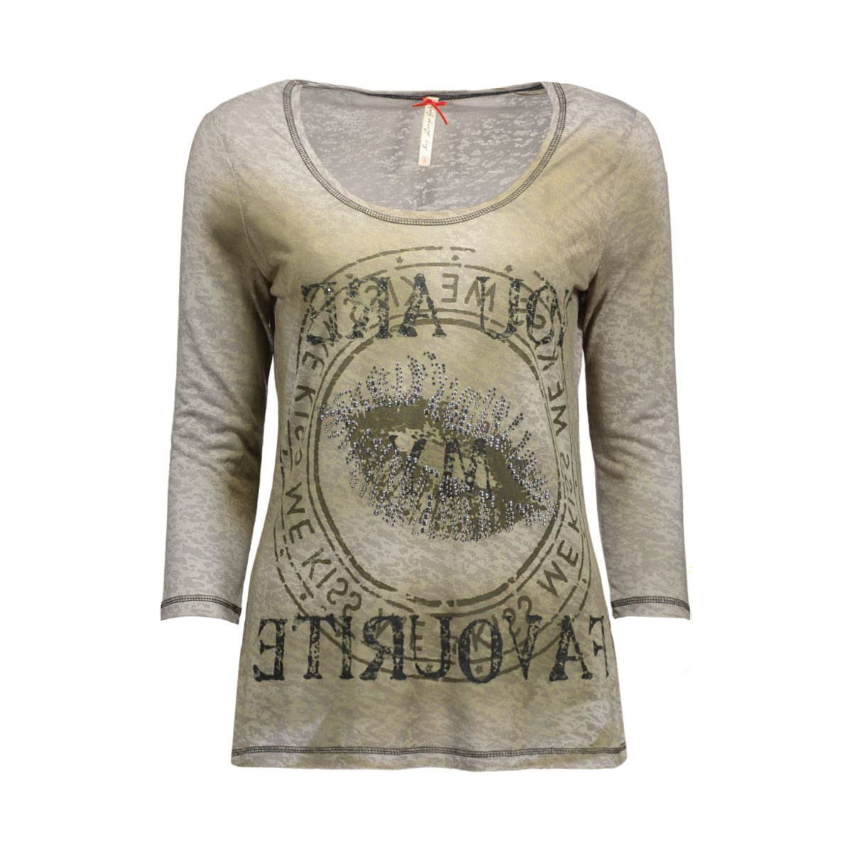 dls00238 key largo t-shirt khaki