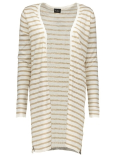 VISTARLY STRIPE KNIT CARDIGAN 14035803 Soft Camel/Soft Camel