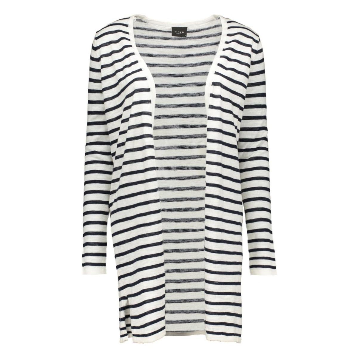 vistarly stripe knit cardigan 14035803 vila vest total eclipse/pristine w