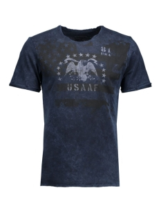 jjvdarrell ss tee crew neck 12109854 jack & jones t-shirt mood indigo/t&s